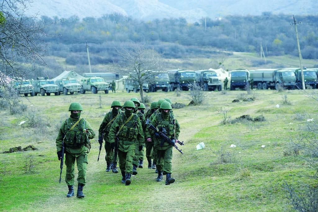 Перевальное. Высадка российского десанта в Крыму.